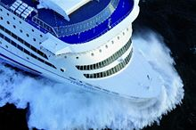 An aerial view of Pont-Aven, cruise ferry