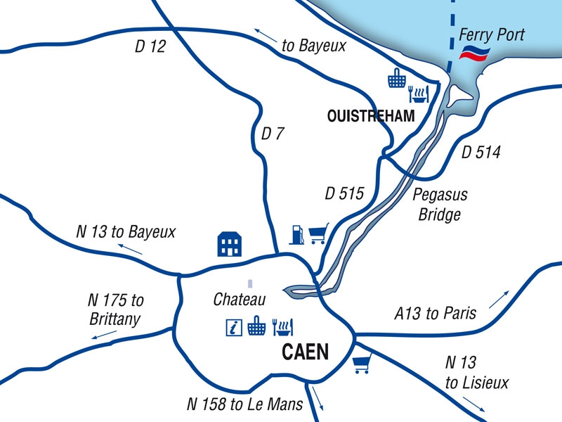 Caen port guide Brittany Ferries