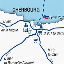 Image depicting Cherbourg ferry port map