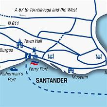 Image depicting Santander harbour map