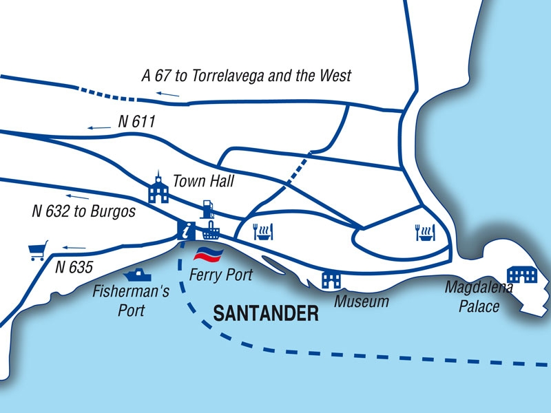 Santander port guide Brittany Ferries