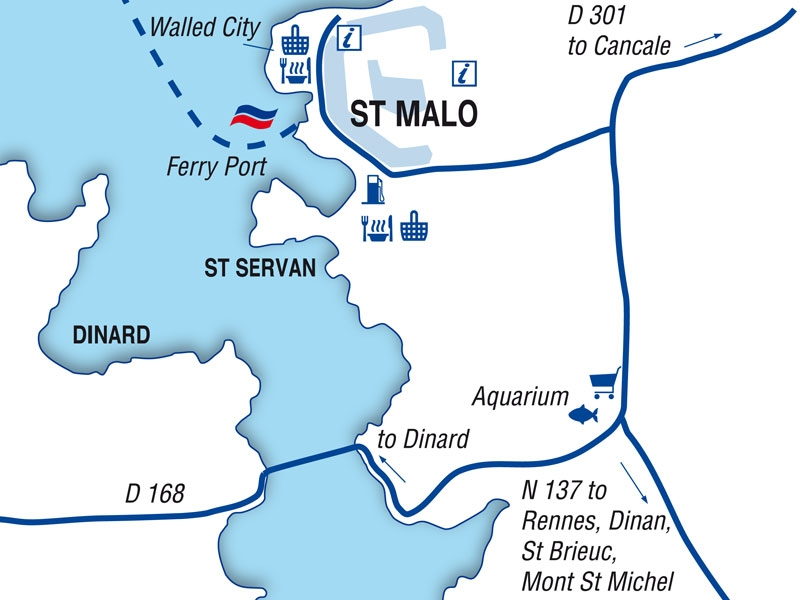 St Malo port guide Brittany Ferries