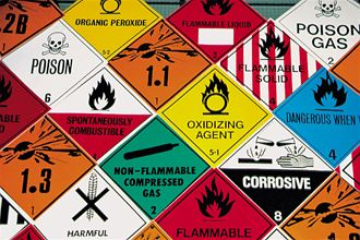 Image depicting Hazardous cargo signs