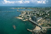 An aerial view of Roscoff