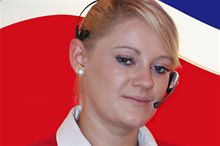 A member of the Brittany Ferries Freight reservations staff